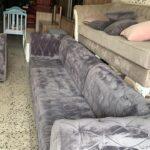 black velvet sofa 6 seated