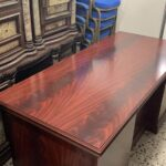 office brown wooden table